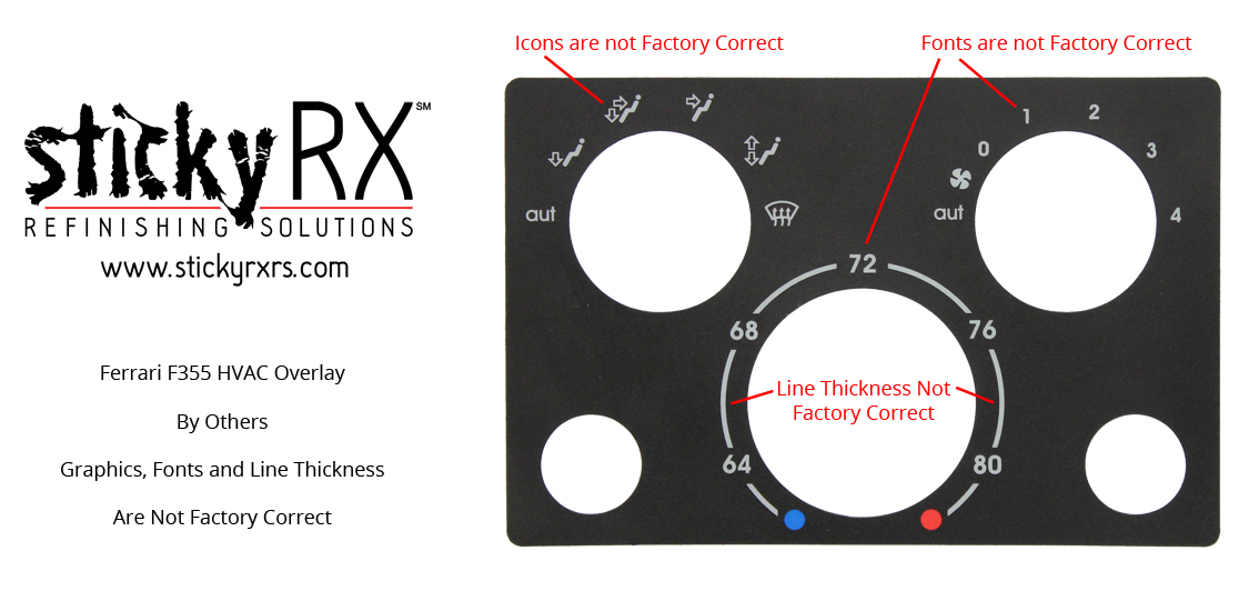Sticky RX Refinishing Solutions_Ferrari_355_HVAC_Overlay_By Others